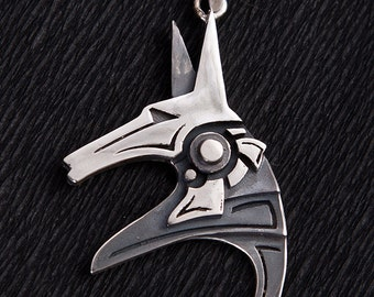 Anubis Stargate Silver Pendant | Sterling Silver Anubis Stargate Pendant