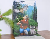 Smokey Bear pop-up card popup Smokey the Bear greeting card with prevent wildfires message