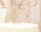 A-Z Gold Metal Rhinestone Cake Topper/ Letters A B C D E F G H J K L M N P R S T V W Z cake topper/ wedding decoration/ wedding centerpiece
