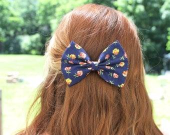 Neve Hair Bow - Floral Bow Hair Bow with Clip
