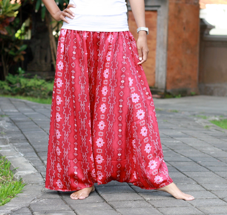 how to make a skirt into harem pants
