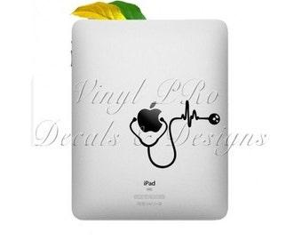 Stethoscope Nurse Doctor Heartbeat Ekg Emt Medical Hospital RN Bsn Healthcare ER ipad Decal