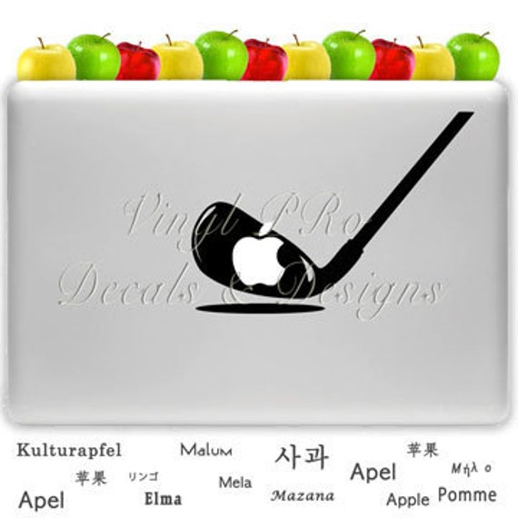 Golf Club Course Sport Hole in One Par Decal for Macbook