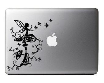 Fairy Butterfly Moonlight - Macbook Vinyl Decal Apple Laptop iPad