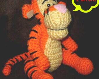 PATTERN: Crochet Winnie the Pooh - Tigger Amigurumi