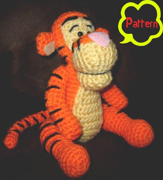 PATTERN: Crochet Winnie the Pooh Tigger Amigurumi