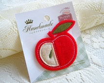 Red Big Apple, Fabric Iron on Applique Red Apple, Special Editon, Summer Fruit, Apple Jack, baby shower, spring, kid clothes,card, scrapbook