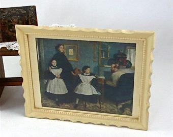 "Edgar Degas ""Bellelli Family"" in Carved Wood Vintage Frame"