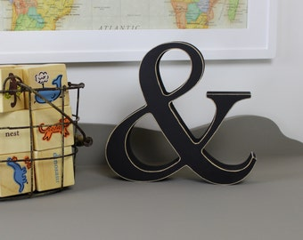 Wooden Ampersand - Free Standing Wooden Letters