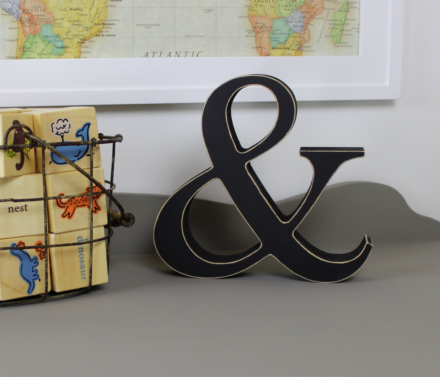 wooden ampersand free standing wooden letters