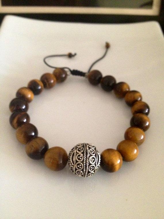 Men S Tiger Eye Bracelet By Theartsynomad On Etsy