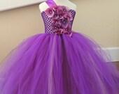 Flower Girl Dress, Purple flower girl dress, Purple wedding