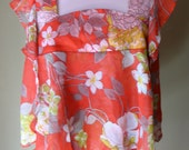 Vintage 1970s Layered Floaty Smock Top