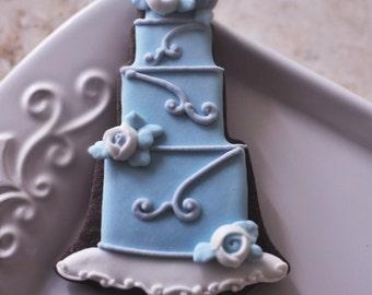 1 Dozen Wedding Cake Cookie Favor Style 2-Wedding Favors, Anniversary, Bridal Showers, Bridesmaids Gifts