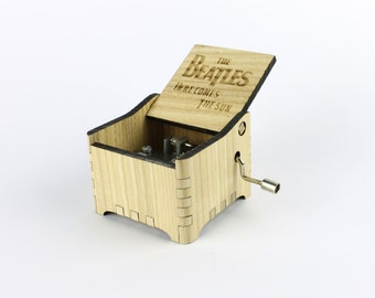 Here Comes The Sun - The Beatles + Your Engraving on the music box