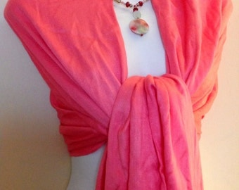 100% Cashmere Wool Pashmina Fabric Scarf, Parisian Pink / Many Colors Available, FAST SHIPPING.