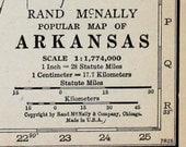 Arkansas State Vtg Map, 1928