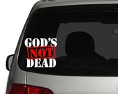 God's Not Dead Car Decal Sticker #godsnotdead