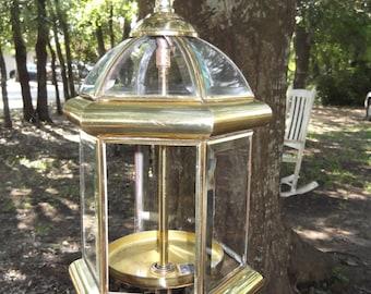 bird feeder, upcycled porch lantern, brass chandelier