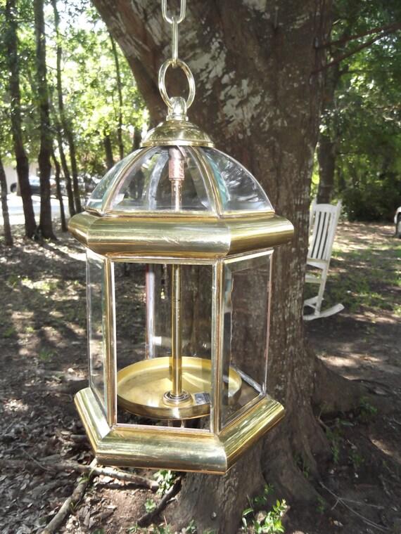 Bird feeder upcycled porch lantern brass chandelier for Upcycled bird feeder