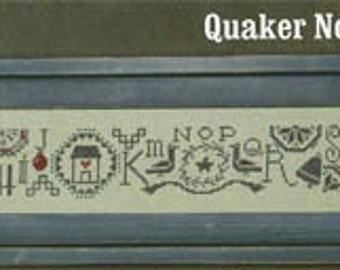 Bent Creek, Quaker Noel Row, Cross Stitch Chart, Sampler, Christmas