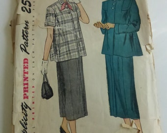 Vintage Simplicity Pattern 2689 Misses Maternity Suit Size 14