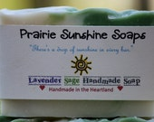 Lavender Sage Handmade Soap--vegan soap--olive oil soap--coconut oil soap