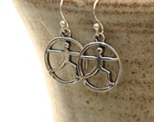 Yoga Earrings, Warrior Pose Earrings, Yoga Jewelry, Yoga Gift, Zen Earrings, Zen Jewelry, Balance