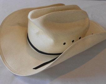 cowboy Hat BAILEY 4X SHANTUNG PANAMA Brad Paisley Style sz. 6 7/8