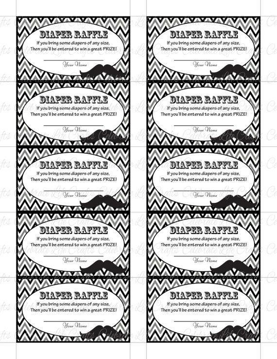 Free Printable Diaper Raffle Tickets Black And White printable – Free Raffle Templates