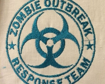 ZOMBIE Response Team Logo Embrodiery Machine Image