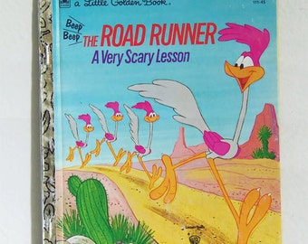 Vintage Road Runner A Very Scary Lesson Book - Road Runner A Very Scary Lesson Little Golden Book - Road Runner A Very Scary Lesson Book
