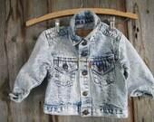 Vintage toddlers Levis jean jacket//Kids Levis denim jacket