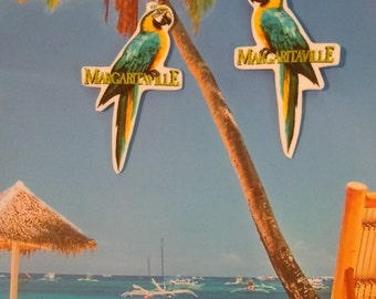 parrothead jimmy buffett margaritaville tropical beach  charm earrings