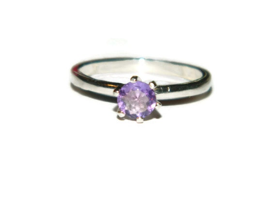 Light Purple Marble : Brazilian amethyst ring light purple stone by