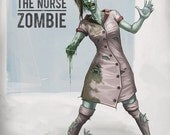 Box O Zombies the Game Poster - Zombie - Nurse Zombie (figures are not included)