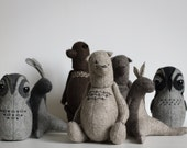 Wholesale Soft Toys - Set of 10 Different Stuffed Bears Owls Rabbits - Stuffed Animals - Teddy Bears - Felted Animals