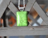 Green Oblong Turquoise Necklace