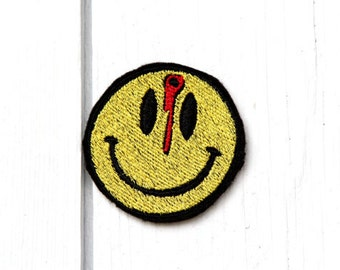 Smiley Face for Embroidery Machine,  Multiple Formats Available. Bloody smiley face