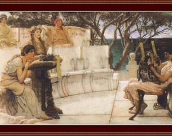 Sappho And Alcaeus Cross Stitch Pattern