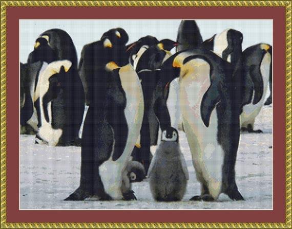 Emperor Penguins Cross Stitch Pattern /Digital PDF Files /Instant downloadable
