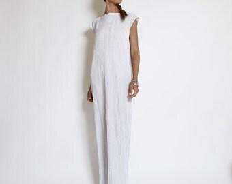 White Oversize Maxi Dress, Long Summer Dress, Wedding Dress,  Modern plisse fabric dress, short sleeve top, loose, party dress, casual dress