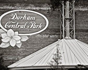 Durham Central Park B&W- Durham, North Carolina 10x15-Other Sizes Available-Fine Art Photography-Gift,Urban