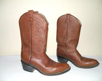 Vinatge A  Jama Brown Western Cowboy Boots