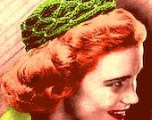 Vintage 1943 Fancy Smocked Pillbox Hat 226 PDF Digital Crochet Pattern
