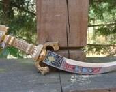 Vintage Spanish Toledo Curved Dagger