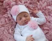 Newborn Baby Hospital Hat Baby Girls Hats for Coming Home from Hospital You Choose Color small rosette