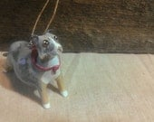 Custom DOG pet clay ornament - handmade, one of a kind ornament - send us photos and we will get started!