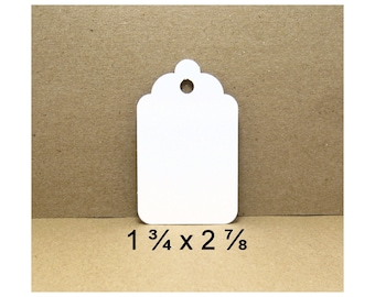 Tags, White Gift Tags, White Tags, Tags, Gift Tags, Small Tags, Merchandise Tags, Price Tags, White Cardstock Tags, White Price Tags, 50