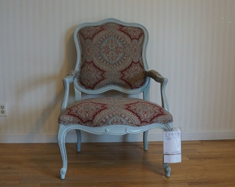 Ethan Allen Chantel Chair / French Accent Chair / Bergere Chair / French Carved Chair